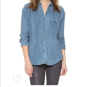 Free People Double Dip Button Down Shirt